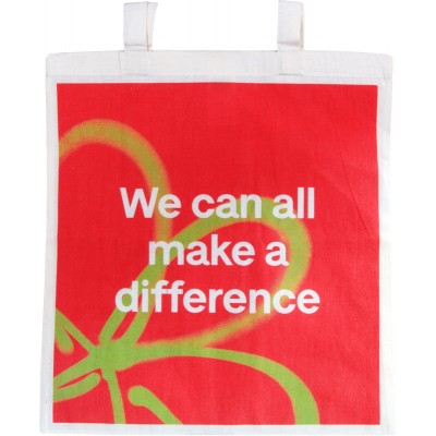 We can all make a difference tote bag